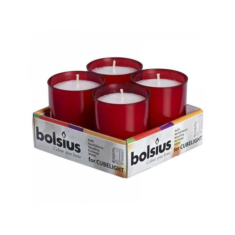 Bolsius relights tray 4 red