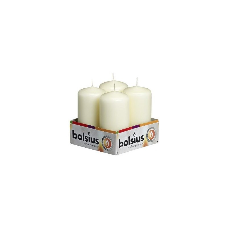 Pillar Candles (100mm x 50mm) 10 Trays of 4 – Ivory
