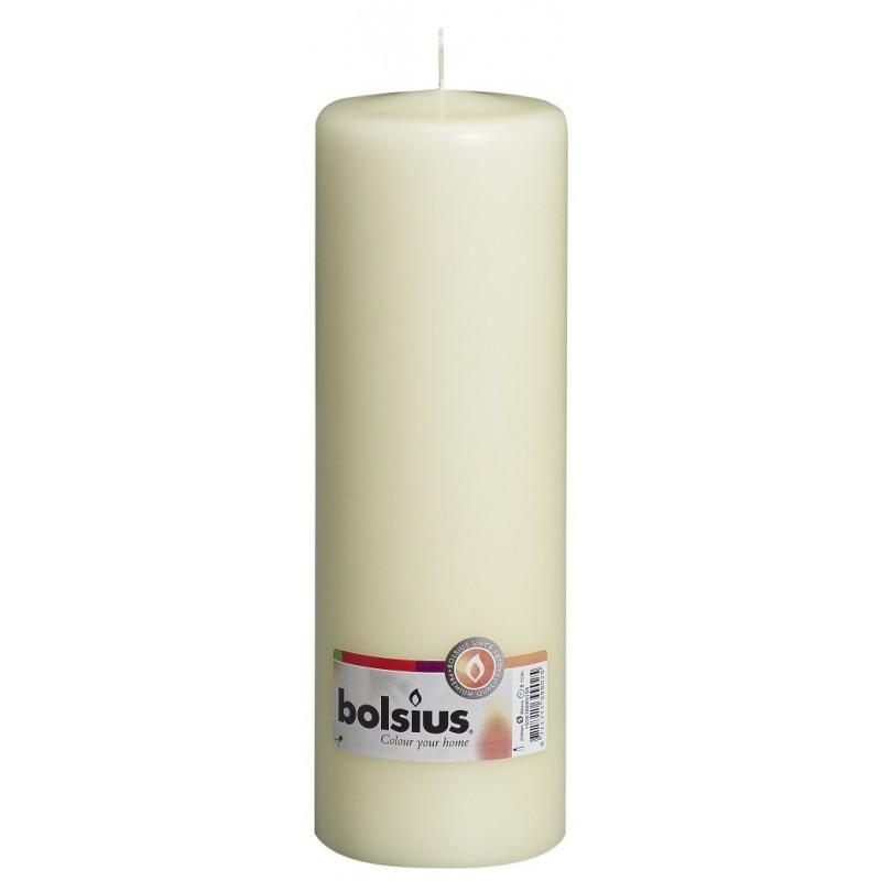 8 Pillar Candles (250mm x 78mm) – Ivory