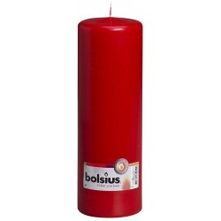 8 Pillar Candles (250mm x 80mm) – Red