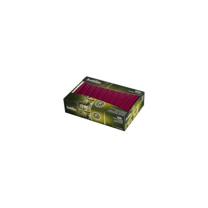 Tapered Candles Pack 100 x 2 – Wine Red