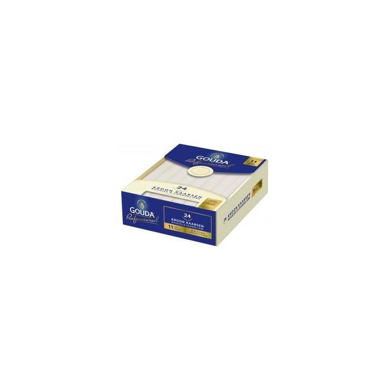 Crown Candles Box 24 x 5 – White