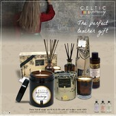 Don't forget your teacher....Pick up the perfect gift with Celtic Candles....available nationwide or stockists from our website http://ow.ly/80ac50Fchmq... Free delivery on all orders over €60 and Free hand soap with orders placed from now until 1st July on all orders over €80. Ignite your senses #freedelivery #handsoap #celticcandles #teacher #teacherpresent #present