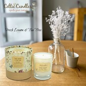 Lemon and tea tree is a fresh scent with notes euclyptus, lime, lemon and tea tree...Perfect for gifting to oneself or that special someone #candle #scented #diffuser #gift #irish